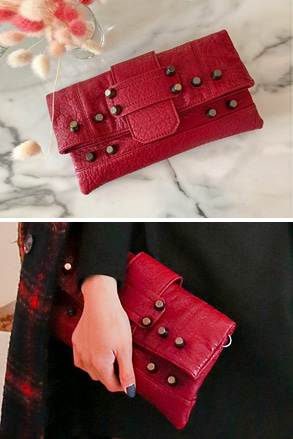 Dabagirl Stud Detail Rectangle Clutch