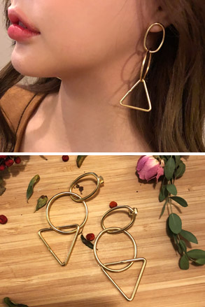 Dabagirl Geometric Drop Earrings
