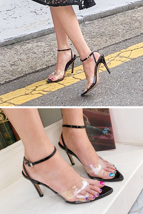 Dabagirl Transparent Heeled Sandals