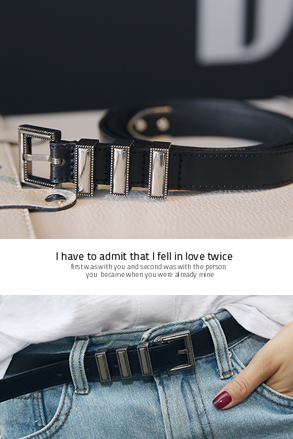Dabagirl Three-Keeper Buckle Belt