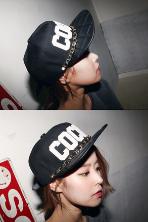 Dabagirl Coco Chain Quilted Snapback Cap