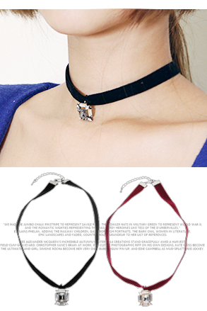 Dabagirl Faux Gem Choker Necklace