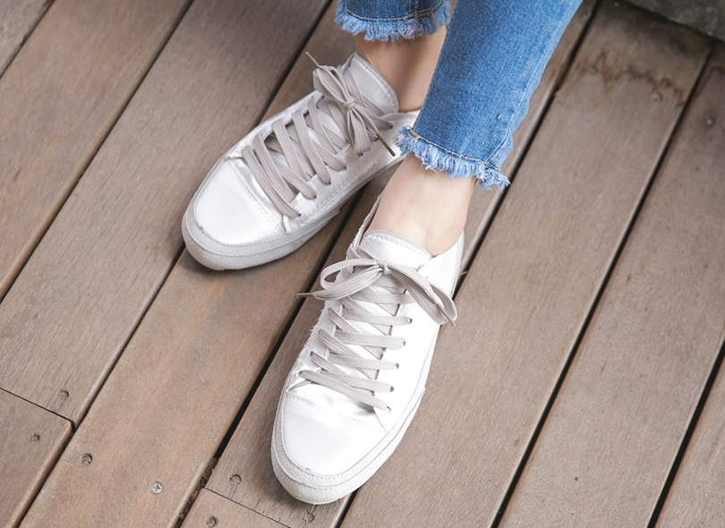 Two-Tone Vintage Sneakers