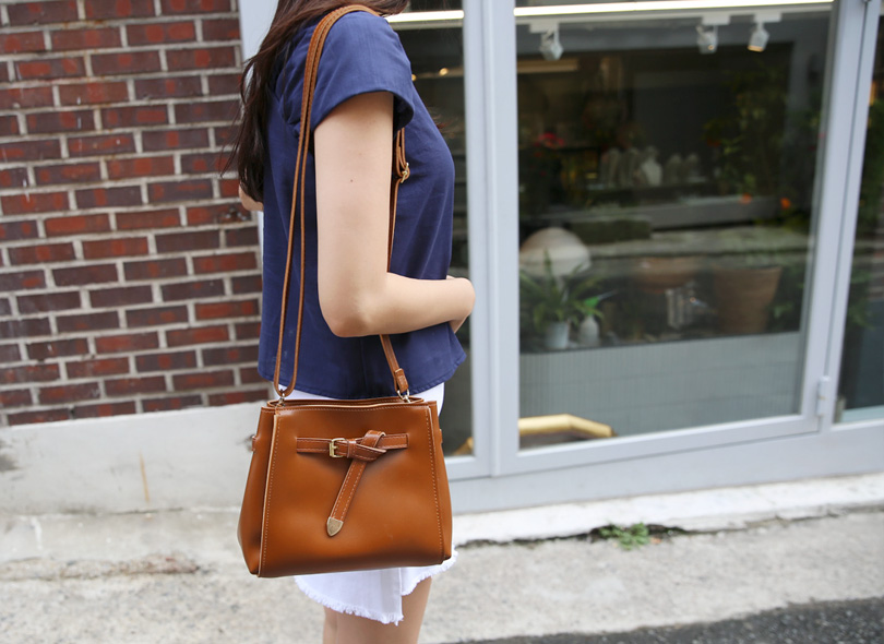 Belted Square Crossbody Bag