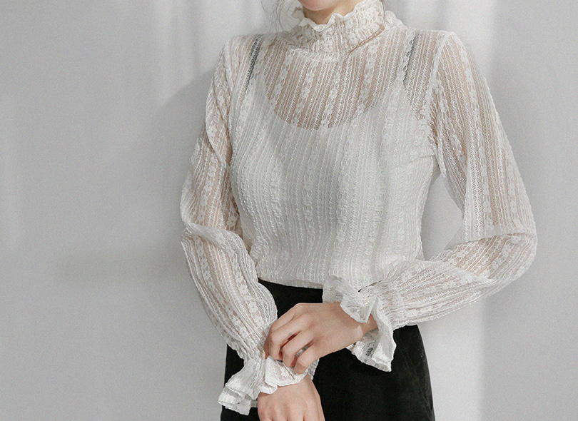 Frill Trim Lace T-Shirt