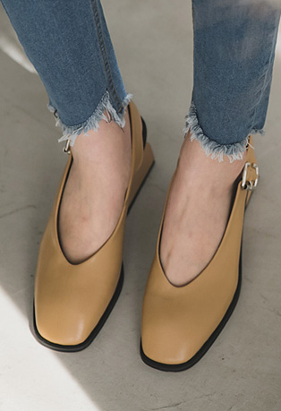 Chunky-Heeled Slingback Shoes