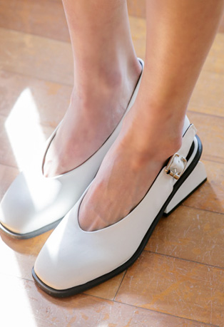 Low-Heeled Slingback Shoes
