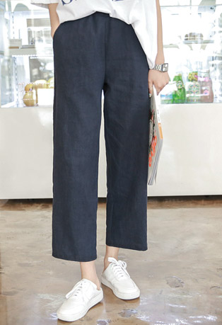 Straight Cut Pull-On Pants
