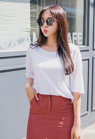 Plain Short Sleeve T-Shirt