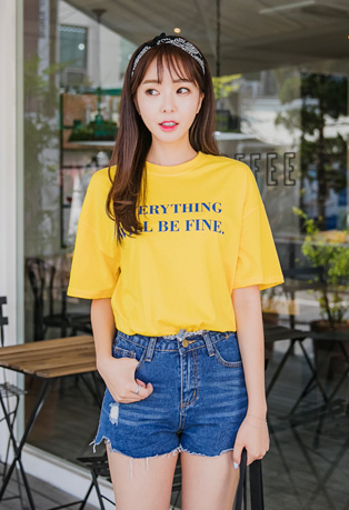Lettering Loose Fit T-Shirt