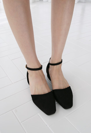 Ankle Strap Mid Heeled Shoes