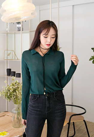 Johnny Collar Knit Top