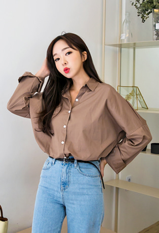 Drop Shoulder Loose Fit Shirt