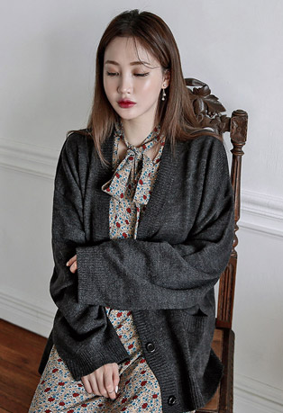 Double Pocket Loose Fit Cardigan