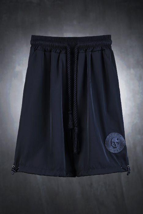 ByTheRByTheR Skeleton Logo Patch String Shorts