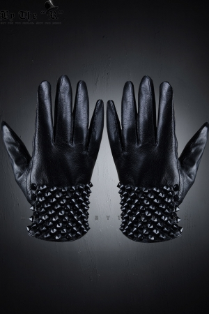 ByTheRMaximus Stud Leather Gloves