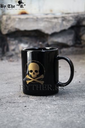 ByTheRByTheR Symbol Skull Logo Decoration Custom Cermaic Mug Cup