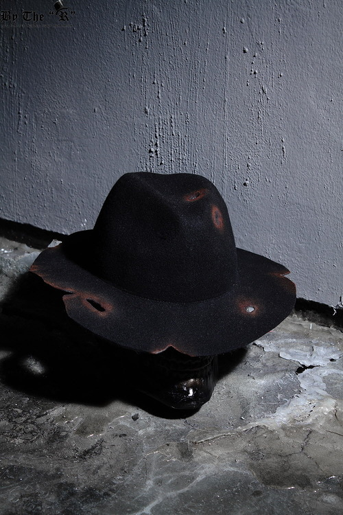 ByTheRByTheR Custom Burning Grunge Black Fedora