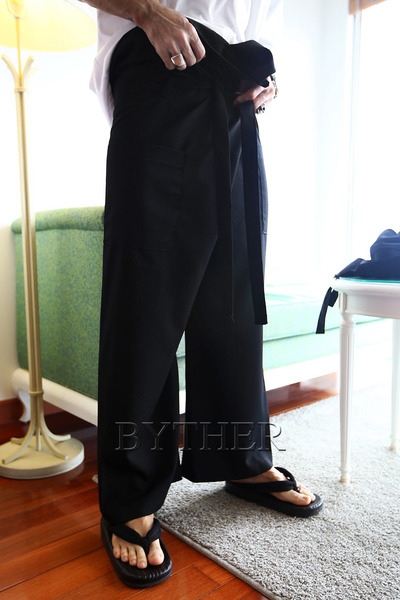 ByTheRByTheR Cover Waist Wide Pants