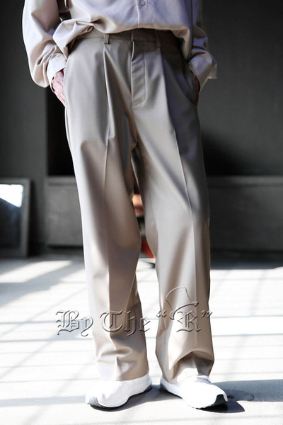 ByTheRSingle Tuck Banding Wide Slacks