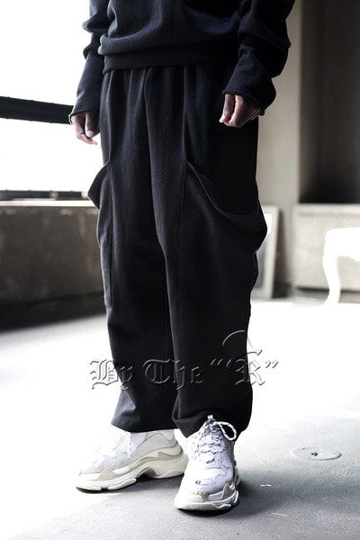 ByTheRByTheR Big Pocket Wide Cotton Pants