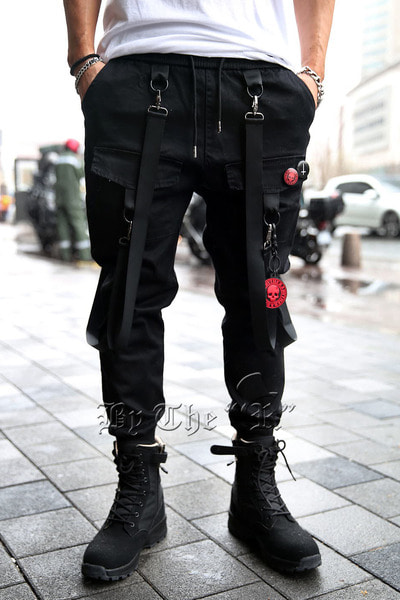 ByTheRTechwear Square Pocket weaving Jogger Pants