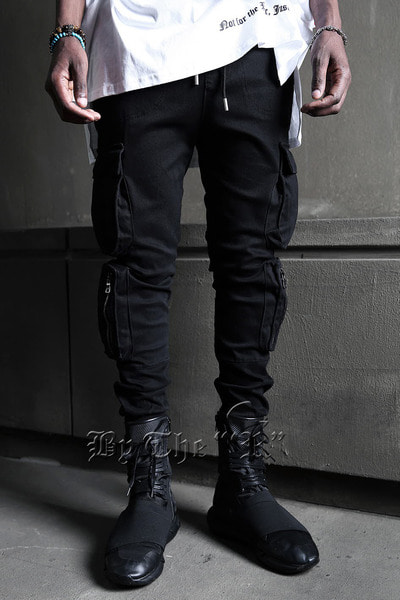 ByTheRStair Cargo Double Pocket Jogger Pants