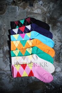 ByTheRColorful Argyle Check Socks