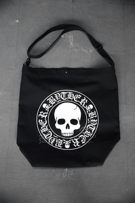 ByTheRByTheR Skull Logo Oversized Shoulder bag