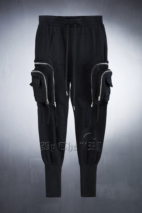 ByTheRTechware Double Zipper Over Bending Jogger Pants