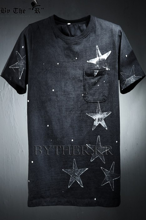 ByTheRGrunge Star Print Cotton T-shirts