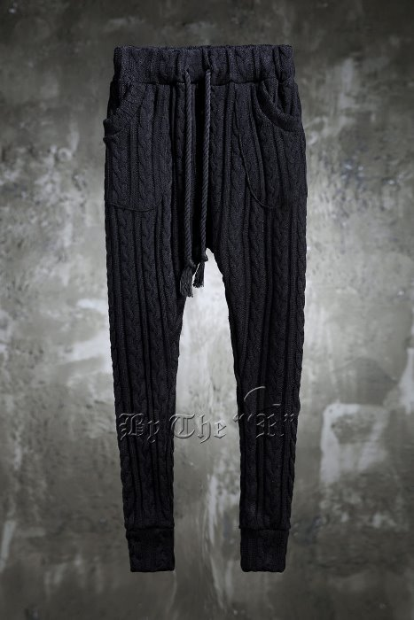 ByTheRByTheR Twisted Knit Rope Belted Jogger Pants