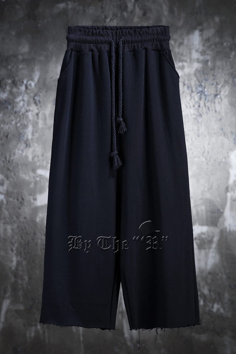 ByTheRByTheR Cutting Cotton Wide Pants