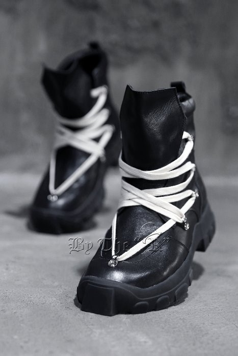 ByTheRLace up Black Hiking Boots