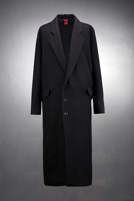 ByTheRByTheR Three Button Extra Long Coat
