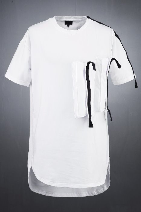 ByTheRWebbing Tape Patch Pocket Short T-shirt