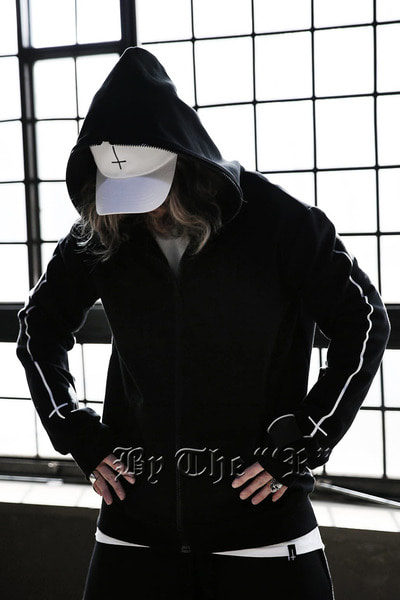 ByTheRByTheR X ProjectR Sleeve Cross Zip-up Hoodie
