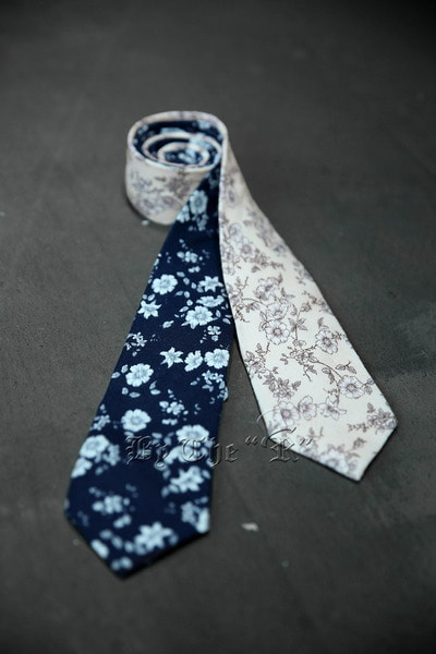 ByTheRDry Floral Cotton Tie