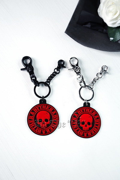 ByTheRByTheR Skull Embossed Key Ring