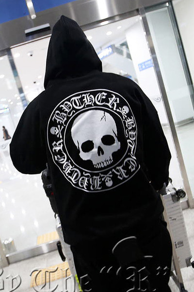 ByTheRByTheR Skull Logo Zip-up Hoodie