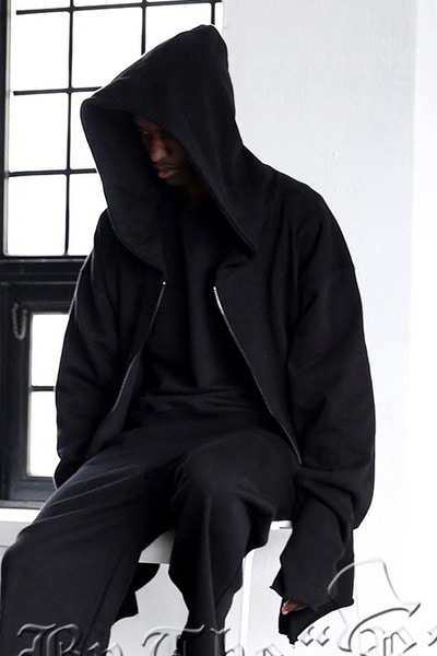 ByTheRByTheR Sleeve Cutting Hoodie Zip up
