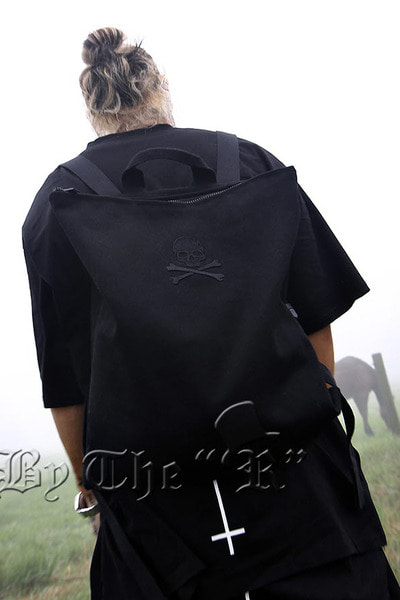 ByTheRByTheR Skull Embroidered Backpack