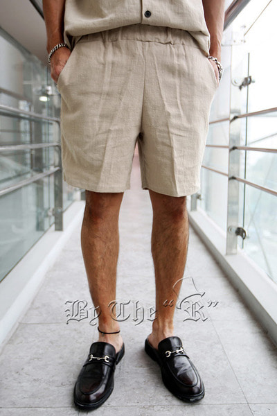 ByTheRLinen Safari Banding Shorts
