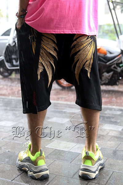 ByTheRGolden Wing Embroidered Shorts