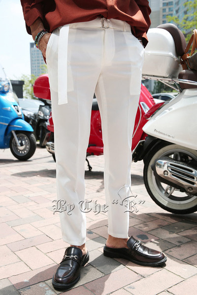 ByTheRRing Belt Straight Slacks