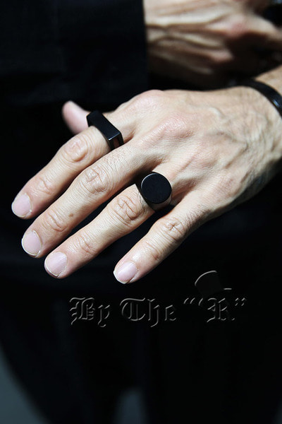 ByTheRFlatted Round Matte Metal Ring