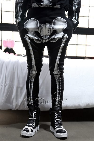 ByTheRByTheR Skeletal Print Training Pants