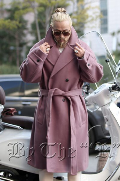 ByTheRThick Belt Double Brested Woolen Overcoat