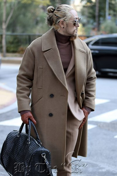 ByTheRBig Pocket Woolen Pea Coat