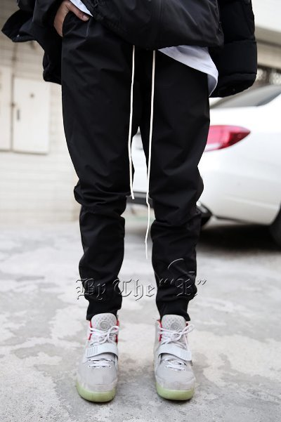 ByTheRInside Zipper Nylon Jogger Pants